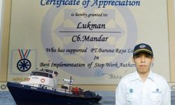 Captains action  gets  SWA Recognition Award from Chevron Indonesia Co
