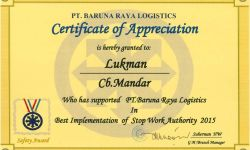 Awards Captains action gets SWA Recognition Award from Chevron Indonesia Co 2399 lukman